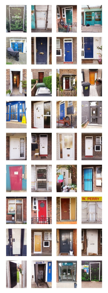 The Doors by Carlotta Tilli - an exploration of doors around Clapham Park.